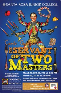 SRJC Servant of Two Masters Poster